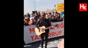 """Haluk Levent'ten atama eylemi yapan öğretmenlere """"müzikli destek"""""""