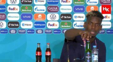 Ronaldo'nun başlattığı şişe kaldırma akımına Pogba'da katıldı!