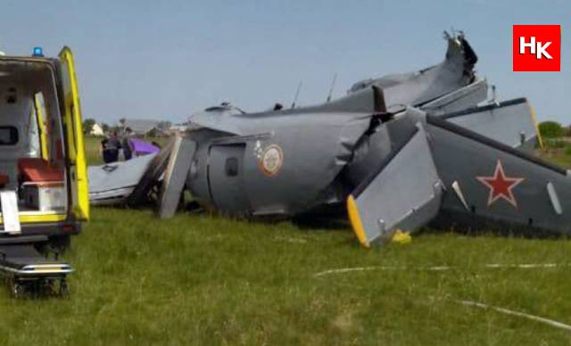 Rusya'da uçak düştü! Ölü ve yaralılar var