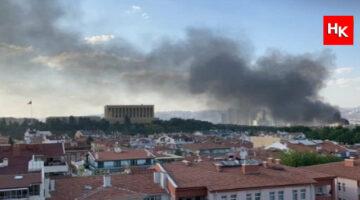 Ankara'da çıkan yangın yürekleri ağza getirdi! Anıtkabir'e çok yakın!