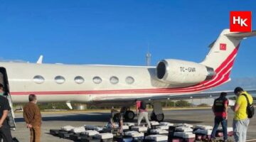 Türk iş insanına ait uçaktan 1.3 ton kokain çıktı!